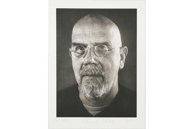 Chuck Close - printed at Graphic Studio