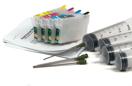 Small Format Refillable Cartridges and Filling Syringes